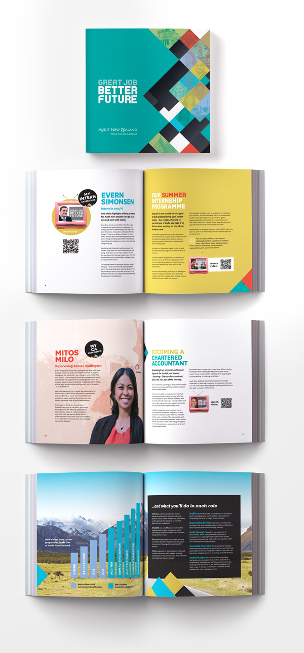 recruitment brochure for audit nz corporate printing city print