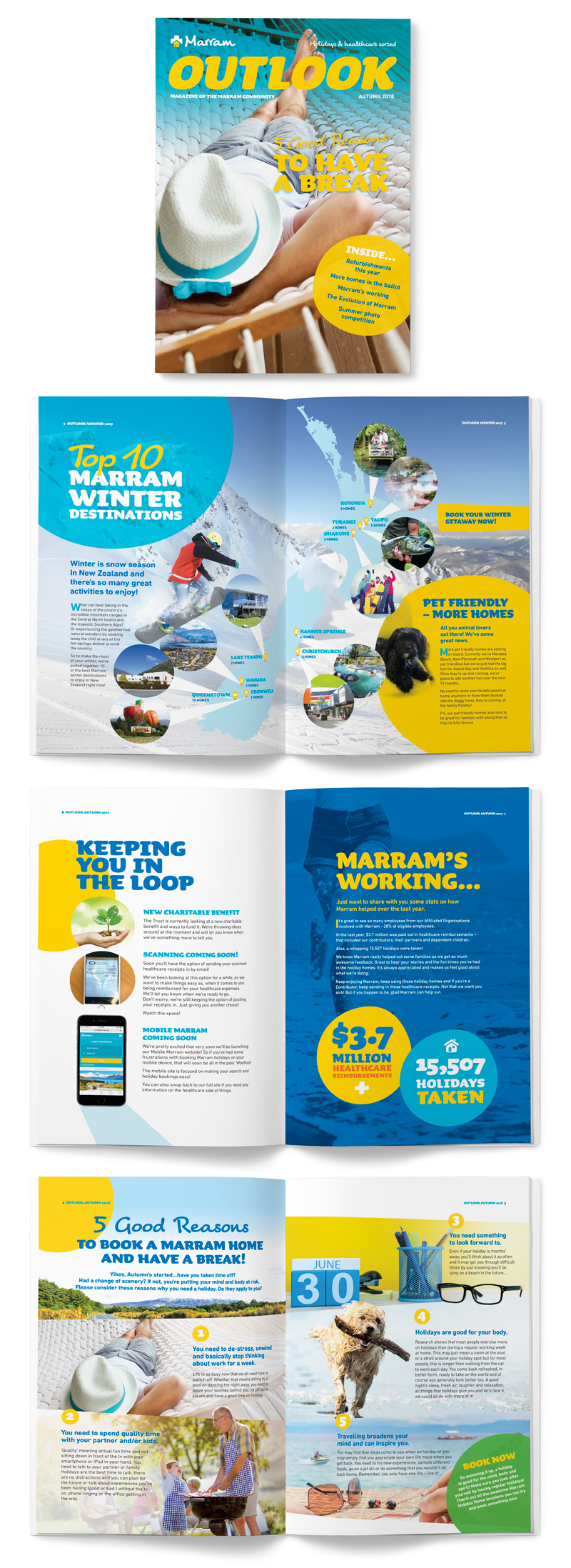 Marram case study magazine newsletter design