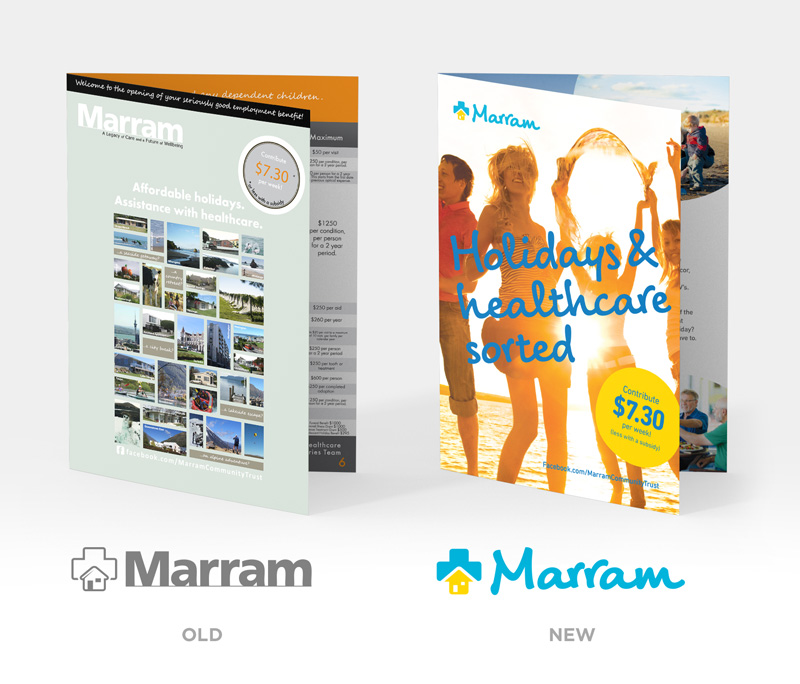 Marram old and new logo